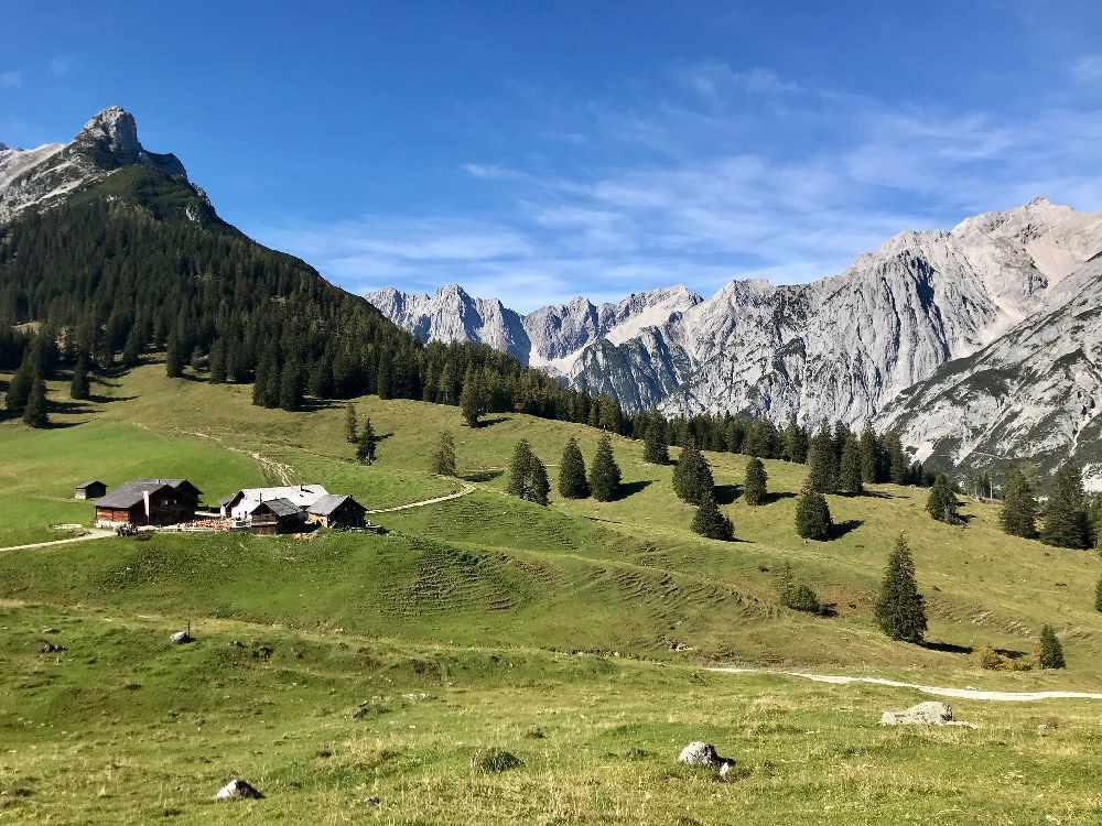 Hall in Tirol wandern - oberhalb der Stadt kannst du auf die Walderalm wandern im Karwendel