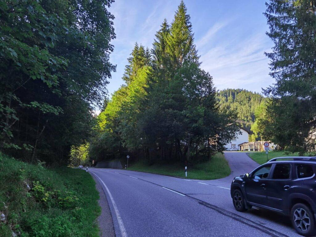 Vom Achenpass in Richtung Tirol