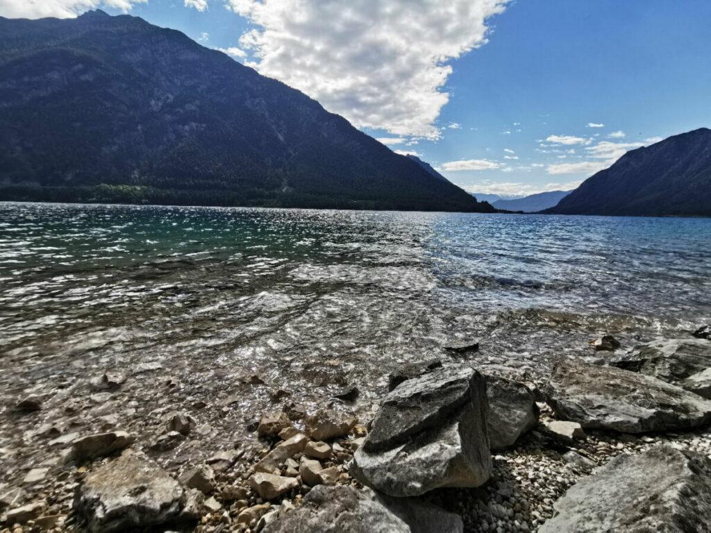 Viele Plätze, viele schöne Ecken zum Achensee baden