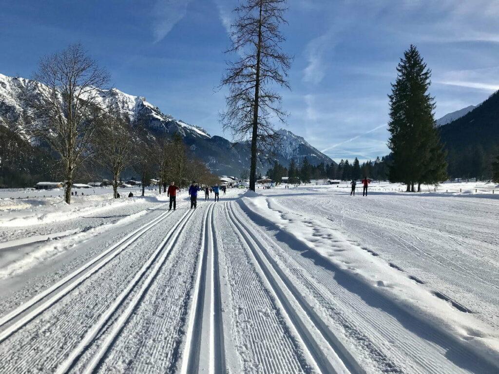 Wunderschöne Loipen in den Karwendeltälern zum Langlaufen am Achensee