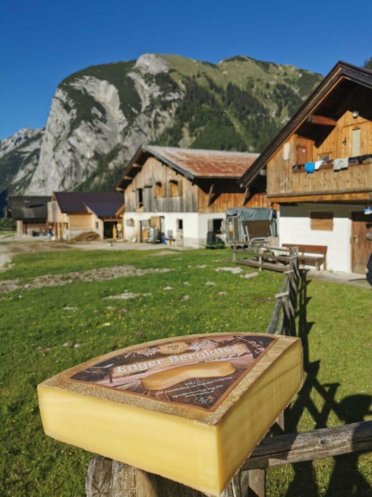 Die gemütlichen Ahornboden Hütten der Eng Alm - mit dem echten Enger Bergkäse
