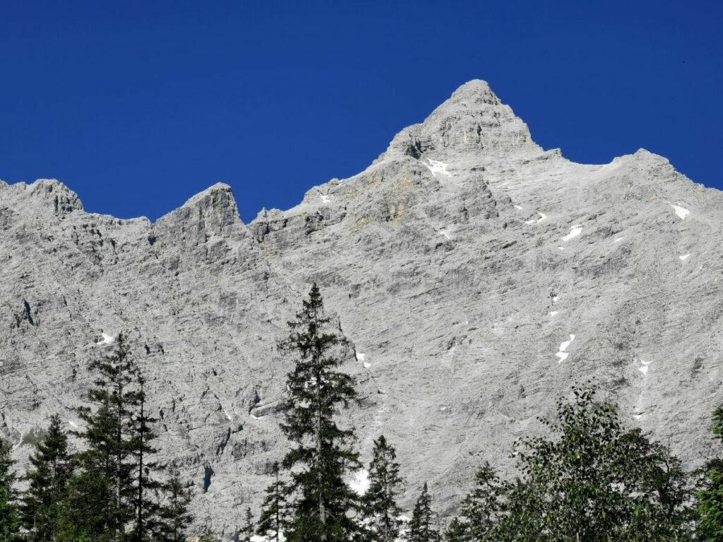 Birkkarspitze vom Kleinen Ahornboden gesehen - Tourvariante 3