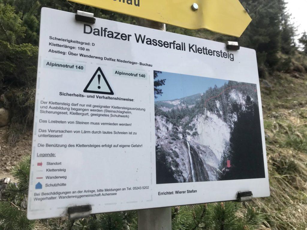 Der Dalfazer Wasserfall Klettersteig