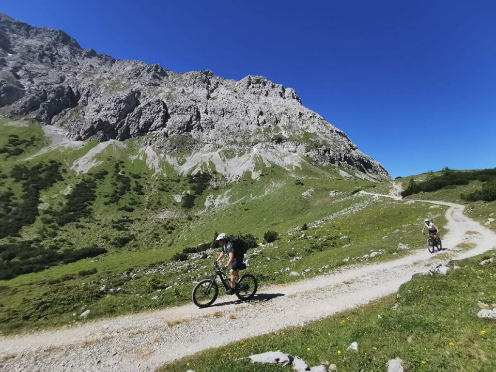 E-Biken im Karwendel - die schöne Landschaft per E-Bike erkunden