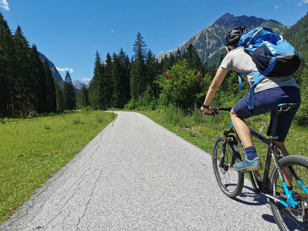 Mit dem Mountainbike oder E-Bike zur Falzthurnalm