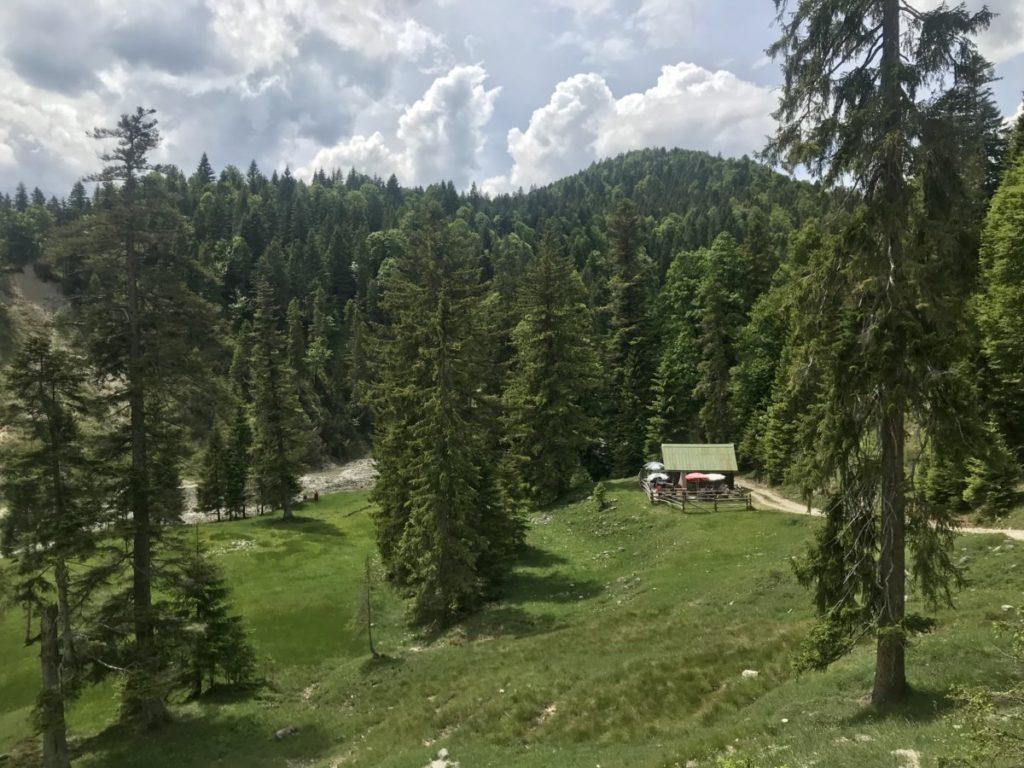 Das ist die alte Finzalm im Estergebirge