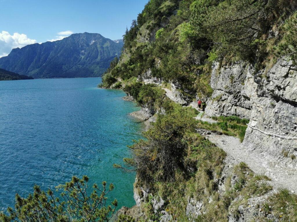 Der Blick in die anderen Richtung über den Steig zum Bärenkopf im Karwendel