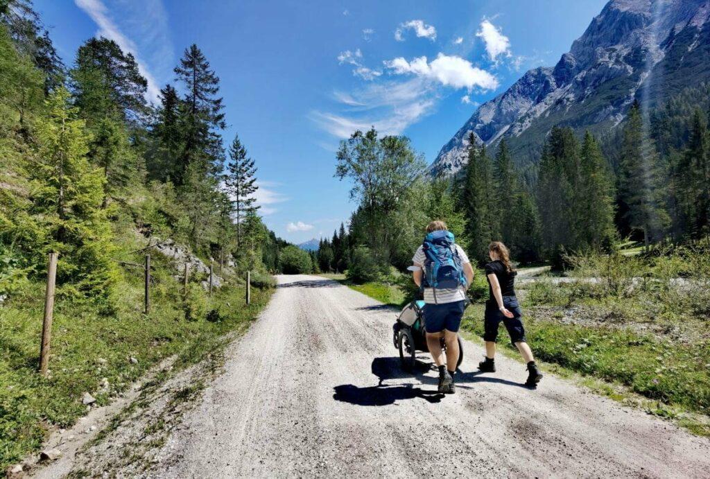 Gaistalalm mit Kinderwagen wandern - eine landschaftlich tolle Tour!