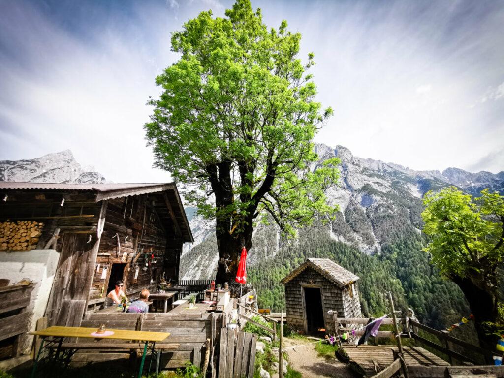 Die Ganalm im Karwendel - MTB Tour aus dem Inntal zur urigsten Alm im Karwendel