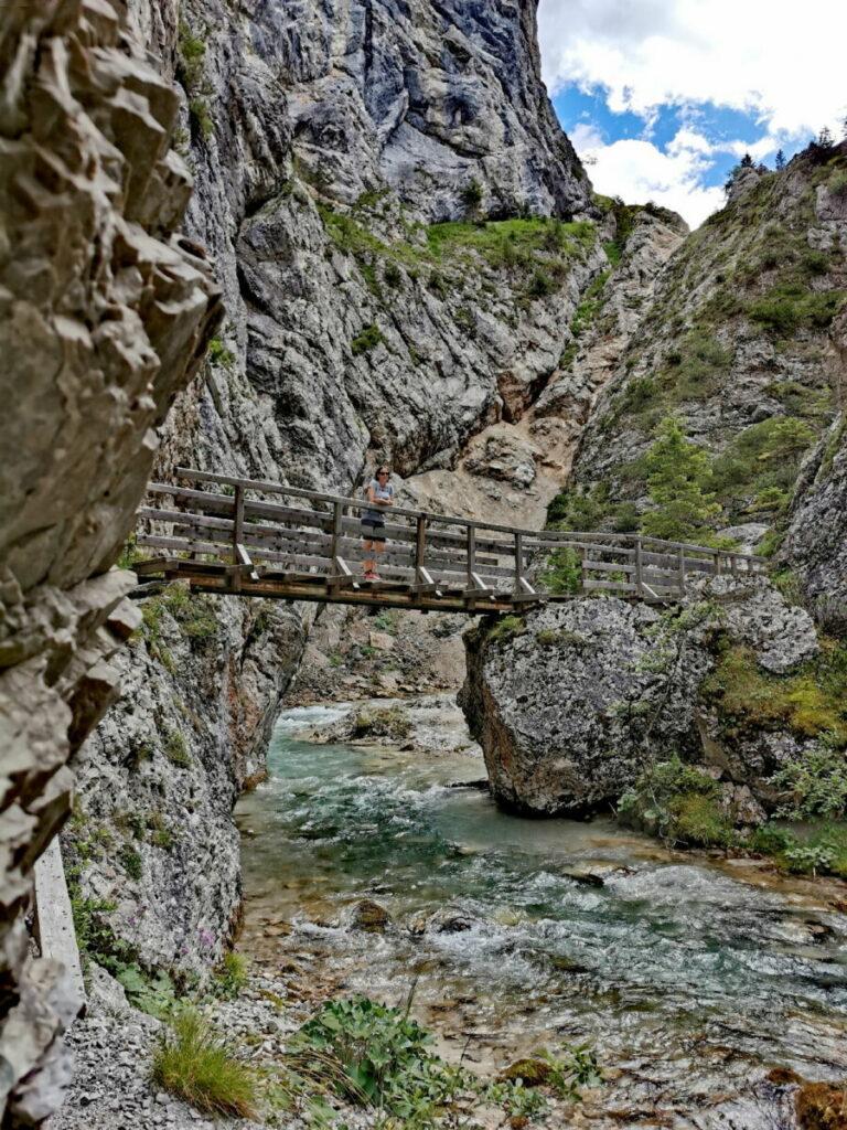 Die Gleirschklamm ist mit einigen Brücken erschlossen