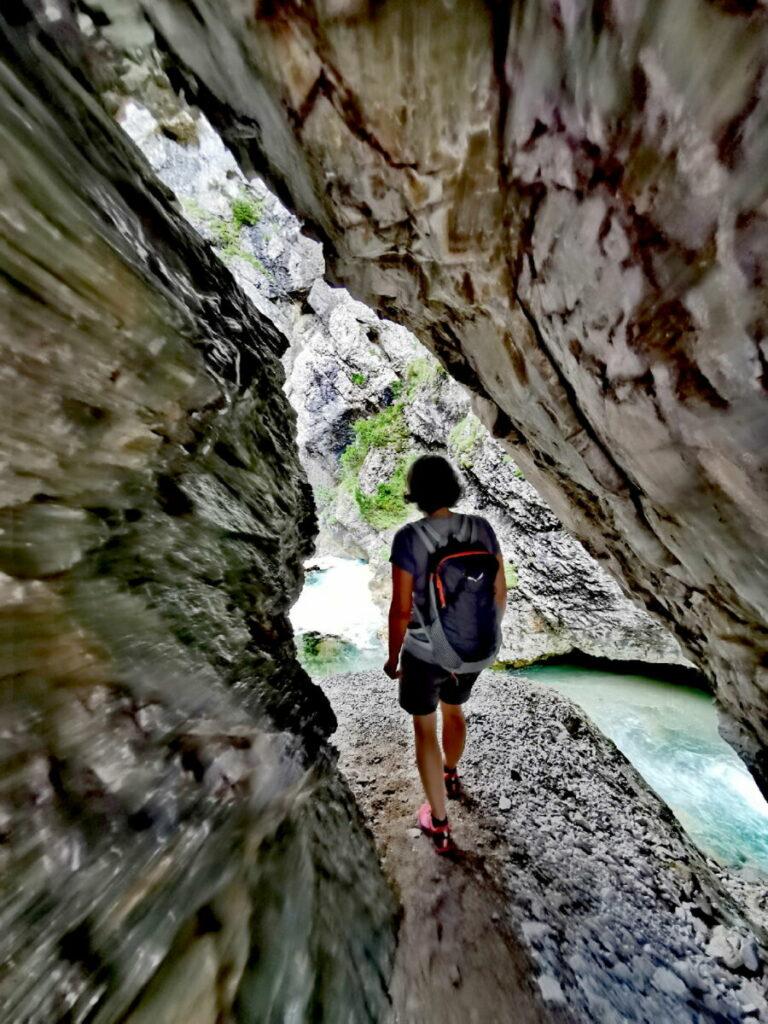 Das Felsentor auf der Gleirschklamm Wanderung