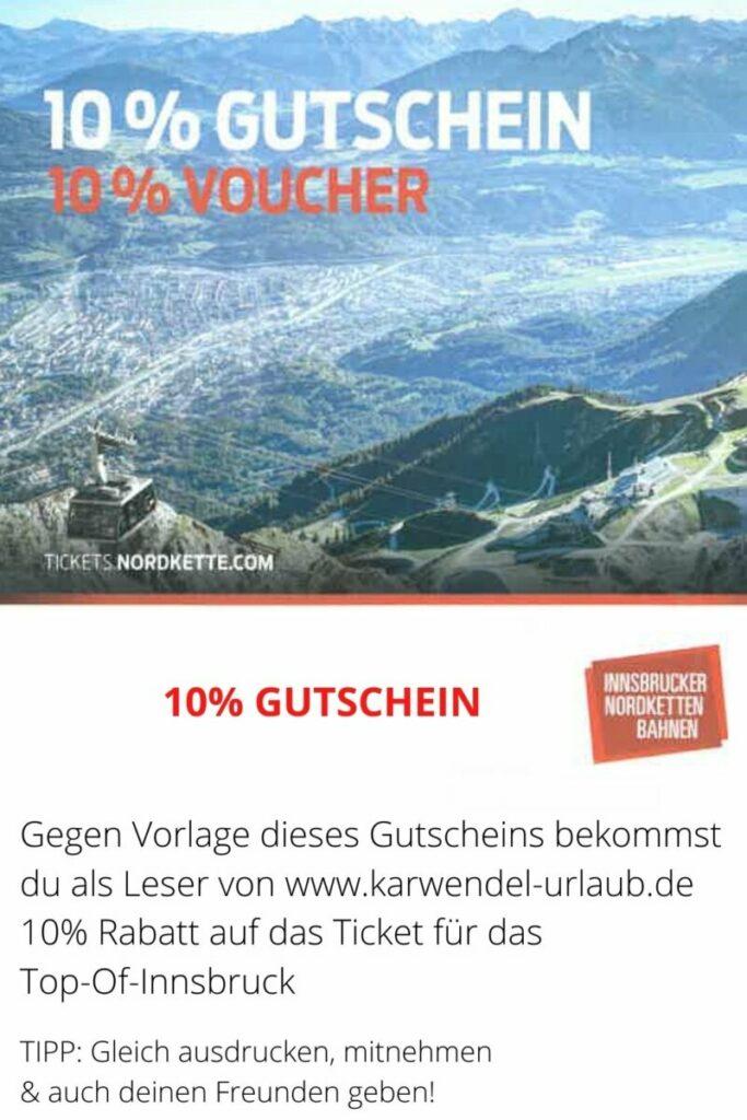 Das ist der Top of Innsbruck Gutschein