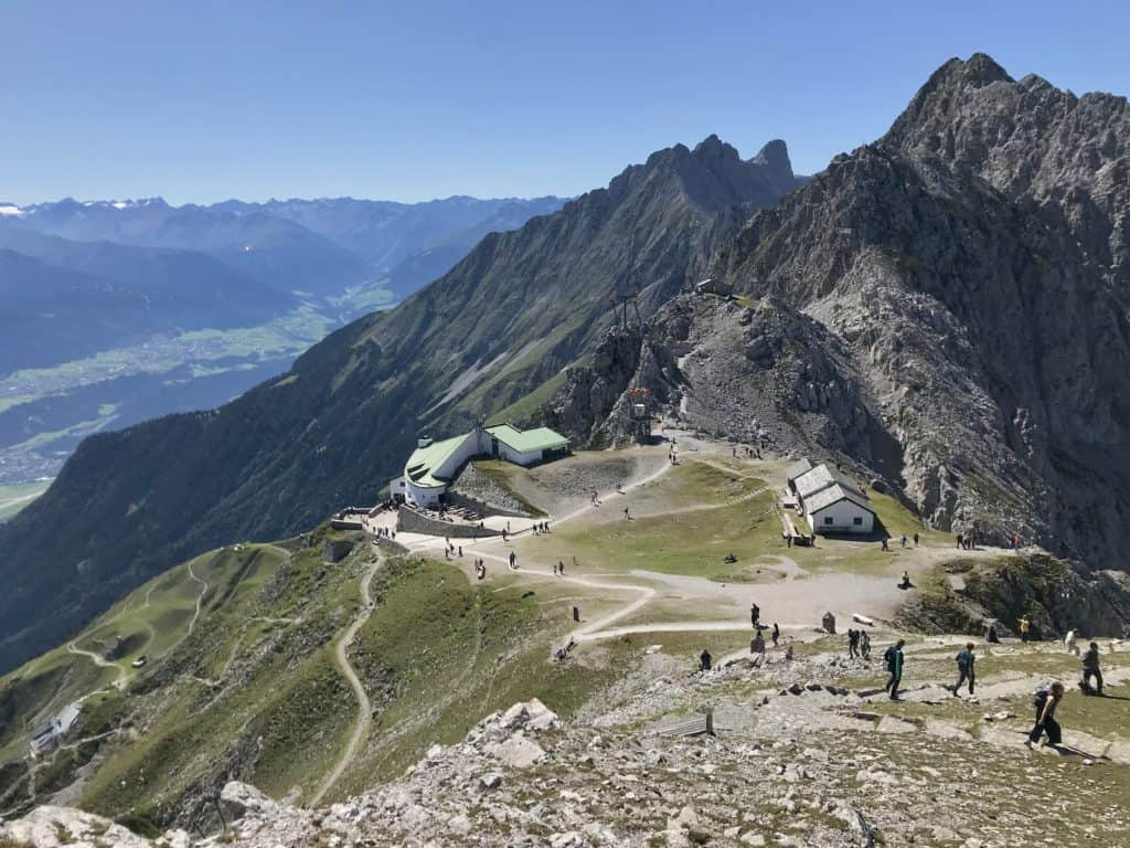 Ganz hinauf auf das Hafelekar im Karwendel