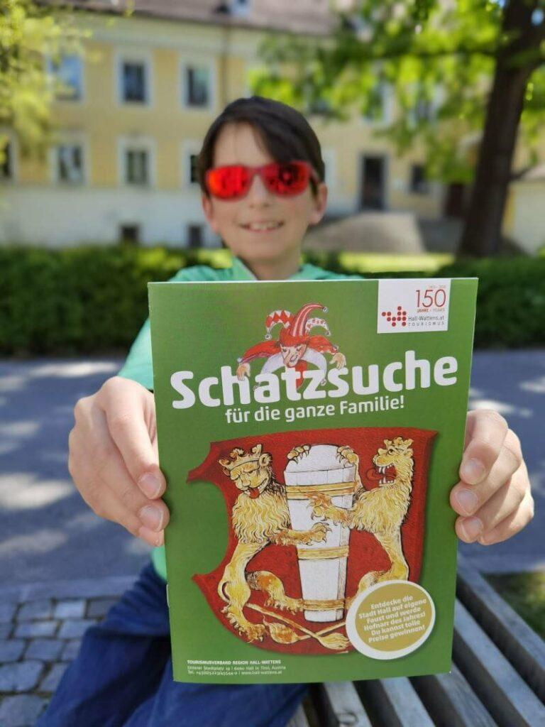 Die Stadtrallye in Hall in Tirol - mit diesem Heft der Schatzsuche findest du alle Rätselstationen