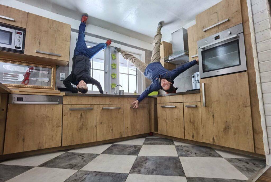 Haus steht Kopf in Terfens - der perfekte Platz für außergewöhnliche Fotos
