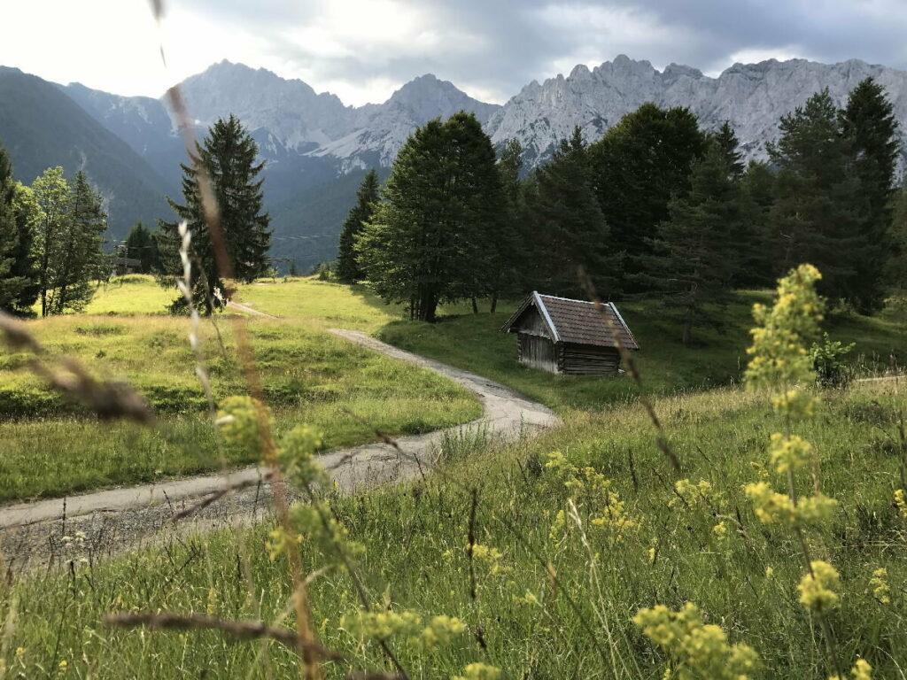Herbst Urlaub Mittenwald - mit dem Blick bei der Kranzberg Wanderung zum Karwendel