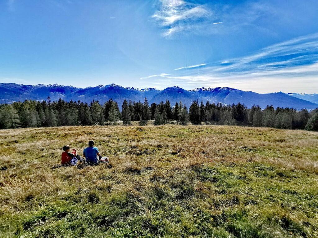 Das war eine traumhafte Herbstwanderung, warm in der Sonne sitzen & die Fernsicht genießen