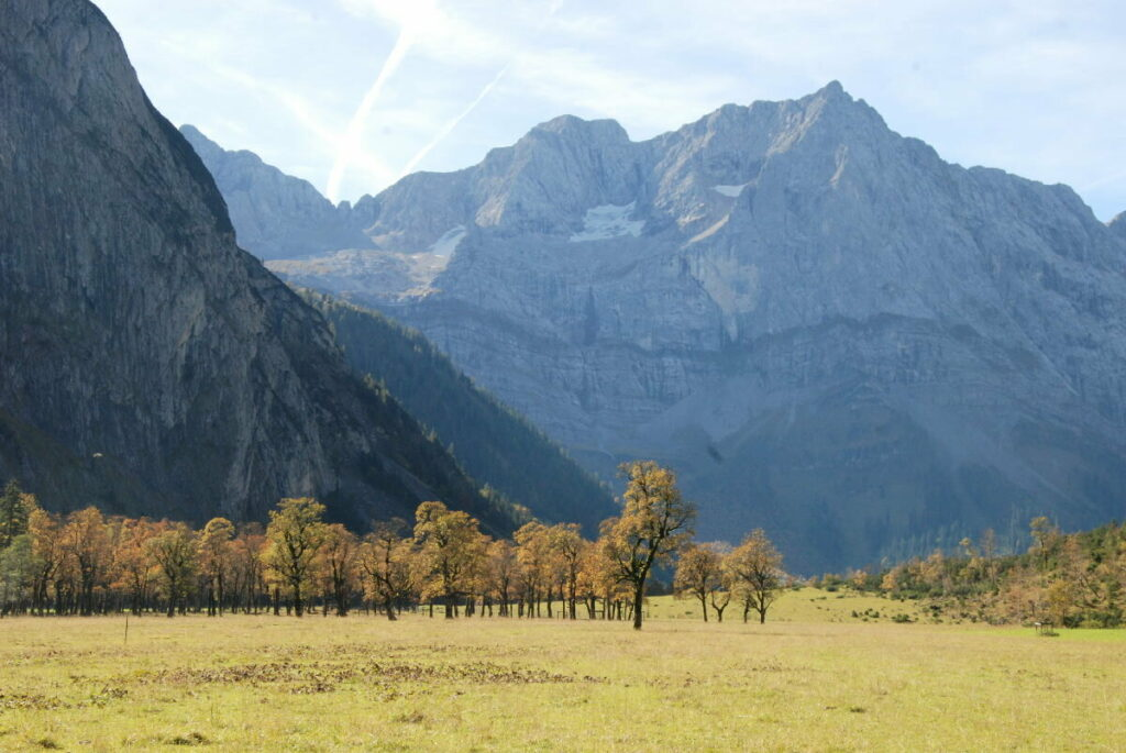 Herbstwanderungen am Großen Ahornboden im Karwendel