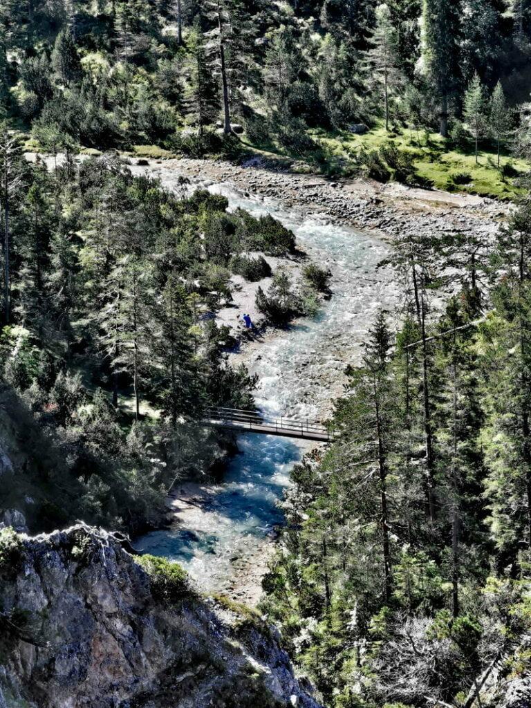 Ausblick von der Glerischhöhe auf die wilde Isar