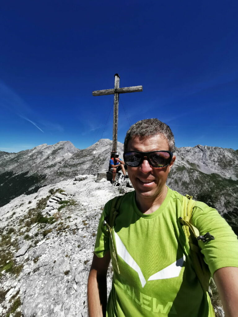 Auf dem Hochalmkreuz im Karwendel