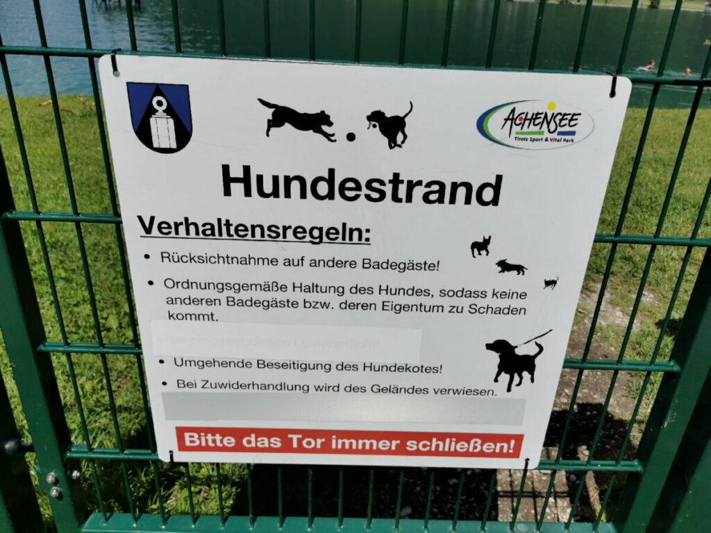 Das sind die Regeln für den Hundestrand Achensee