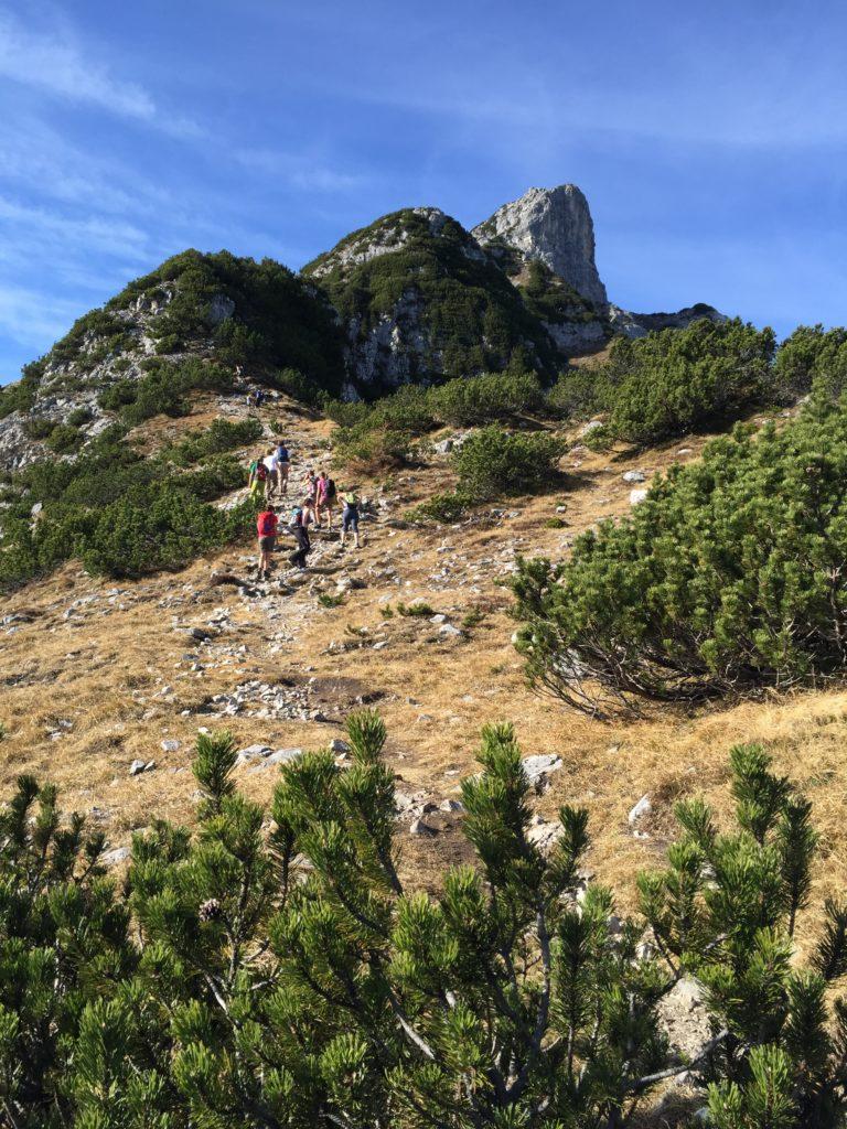Hundskopf wandern - der Zustieg zum Klettersteig