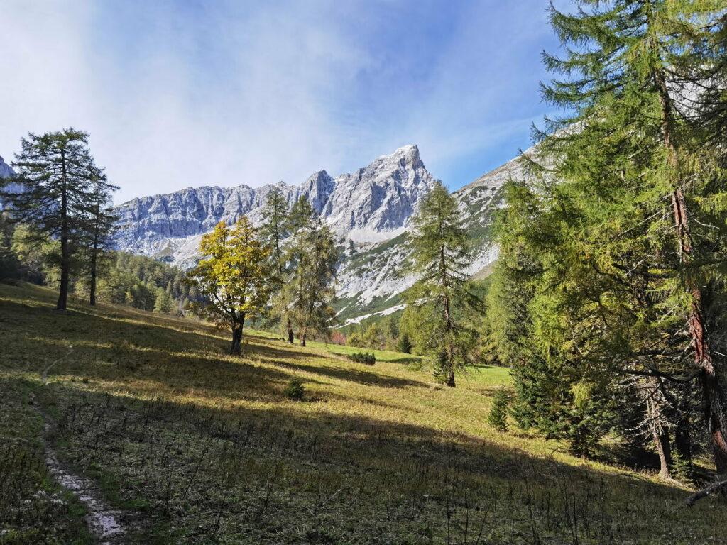 Im Inntal wandern - wunderschön ist im Herbst der Bereich am Issanger