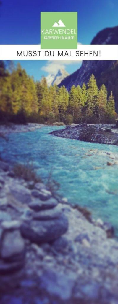 Wandern an der Isar - merk dir dieses Bild der Isarquelle für deinen Ausflug ins Karwendel