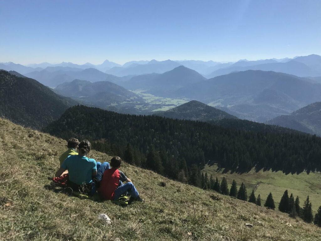 Der Blick über die Jachenau - vom Jochberg aus gesehen