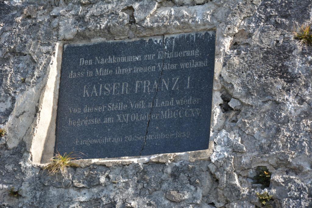 Inschrift an der Kaisersäule Thaur