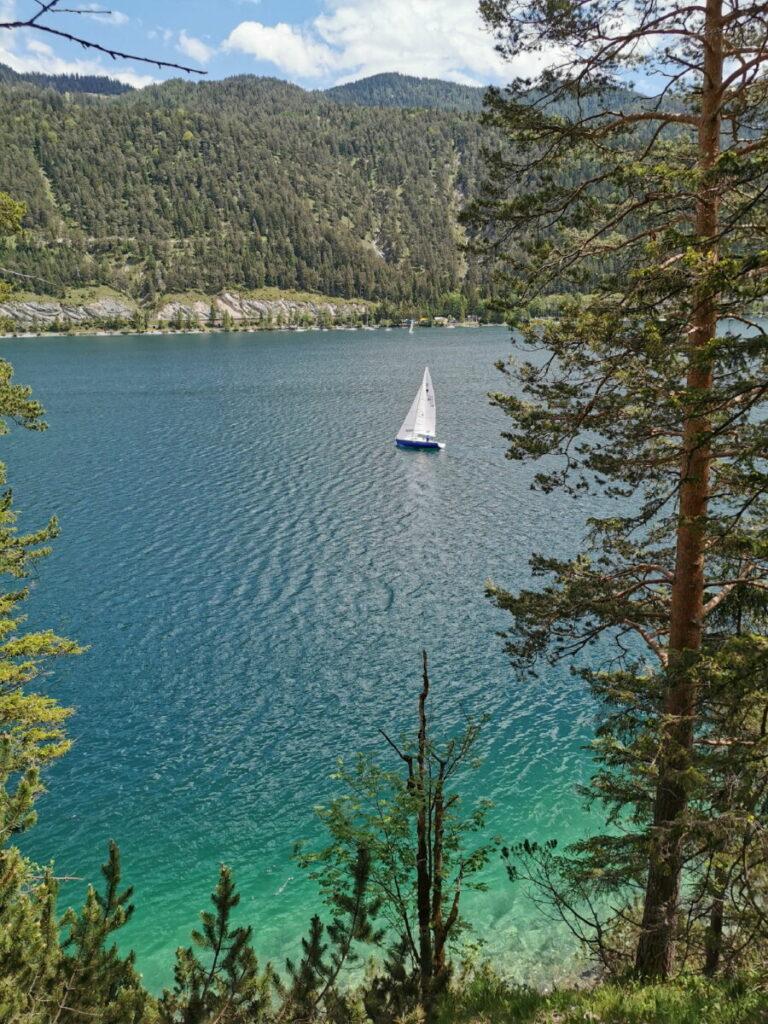 Karibik in Tirol mit Segelschiff - wir haben einige Segelschiffe gesehen