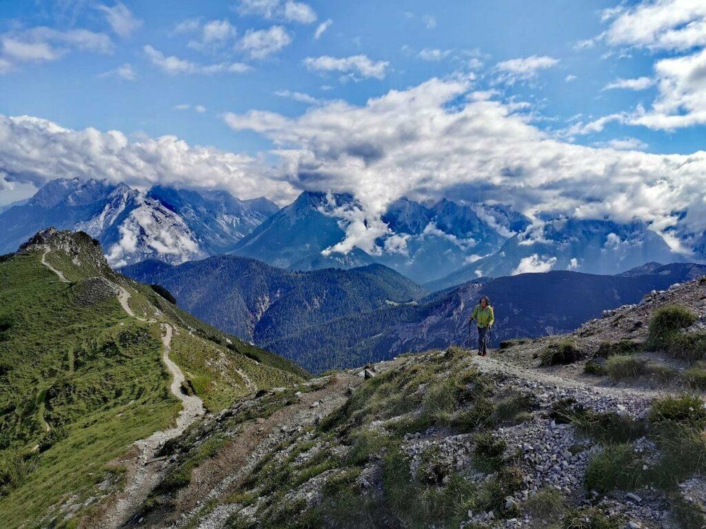 Meine Variante auf dem Karwendel Höhenweg - über den aussichtsreichen Grat ab Seefeld wandern