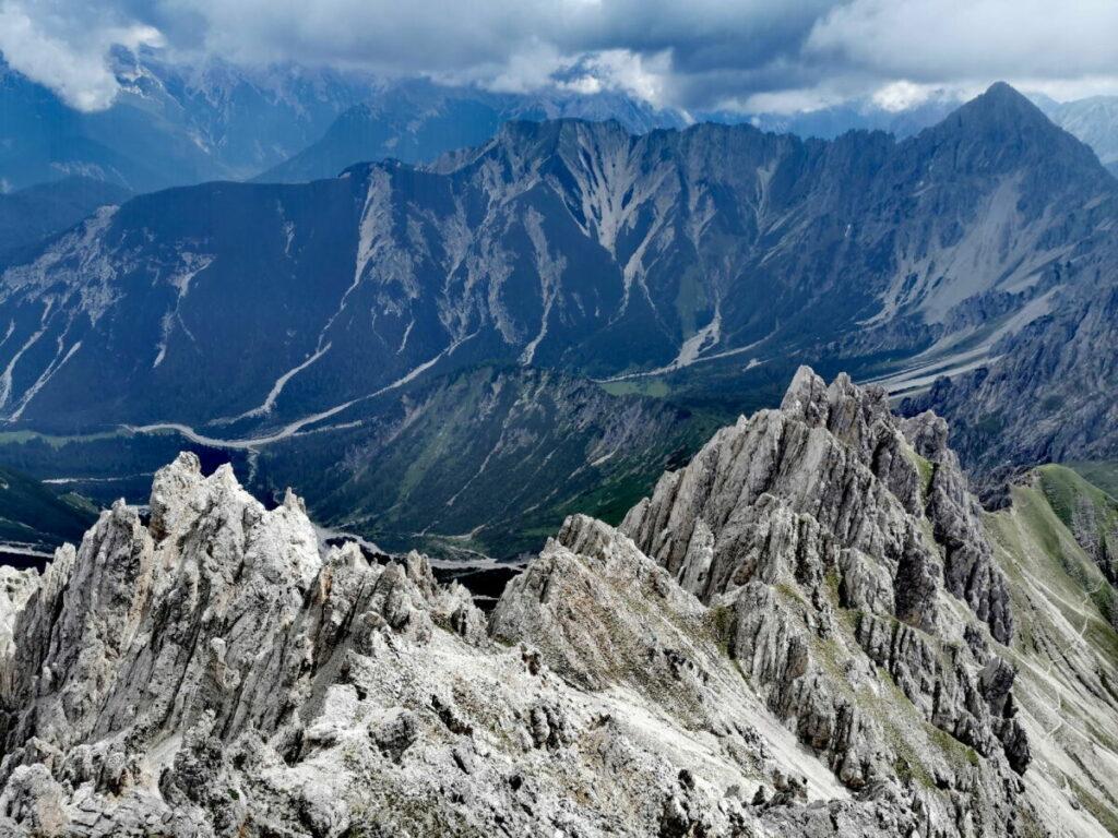 Mit der Bergbahn hinauf ins imposante Karwendel