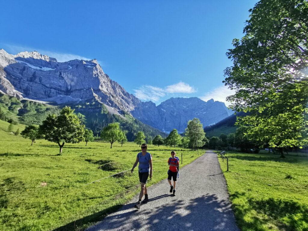 Karwendel wandern - in dieser schönen Natur macht das richtig Spaß!
