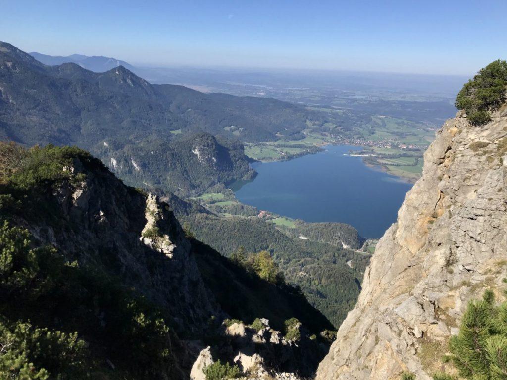 In den Bergen am Kochelsee wandern