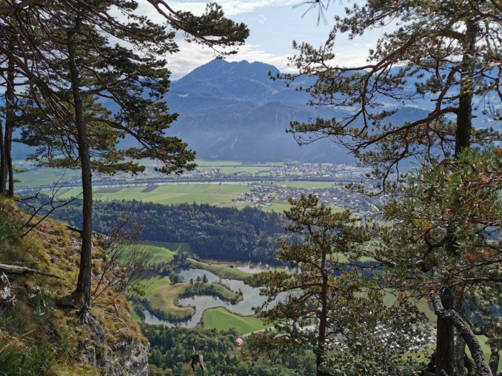 Die Kramsach Seen von oben gesehen