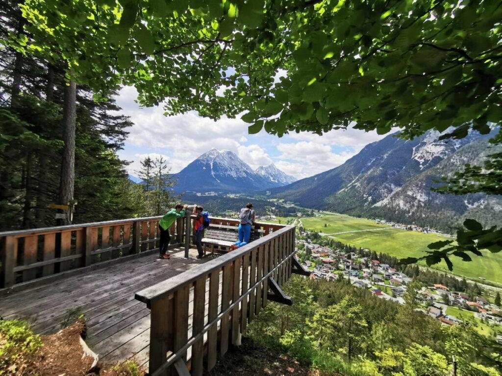 Kurblhang Leutasch - für mich der beste Aussichtspunkt über das schöne Hochtal in Tirol