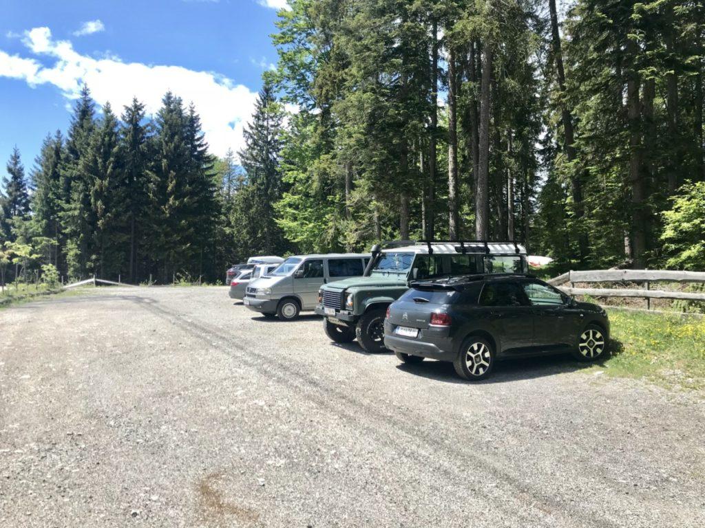 Lottensee parken - unter der Woche ist meist Platz am Parkplatz!