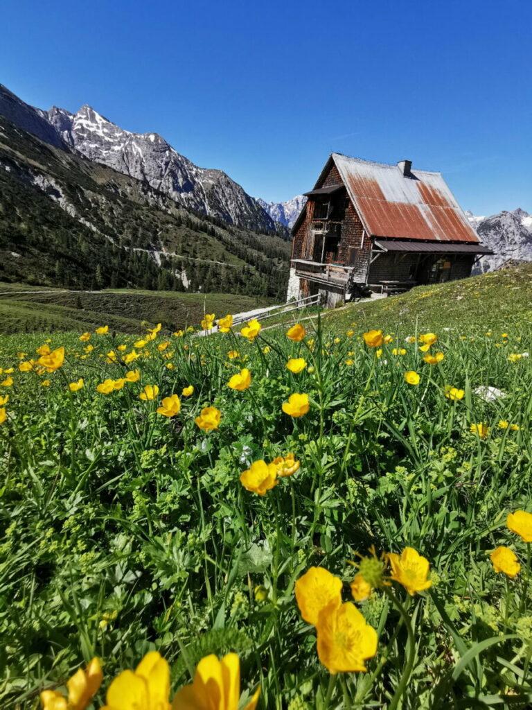 MTB Achensee: Anspruchsvolle Tour, aber Traumlage - die Plumsjochhütte