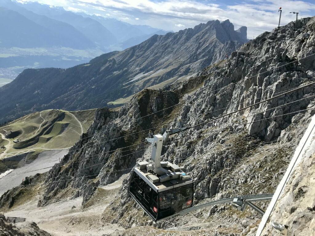 Ganz weit hinauf mit der Nordkettenbahn Innsbruck