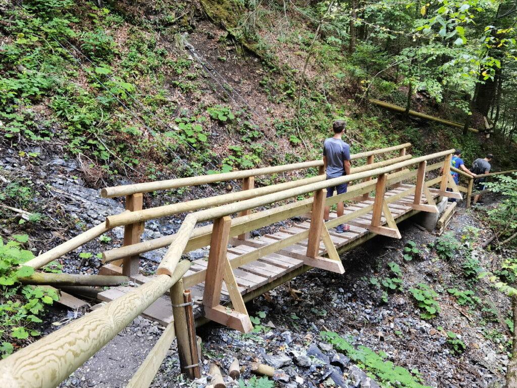 Eine der Brücken auf unserer Partnachklamm Wanderung