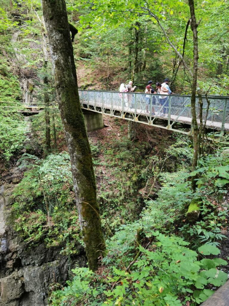 Die Eiserne Brücke über der Partnachklamm