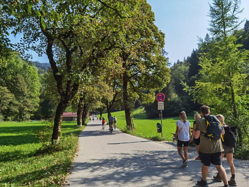Richtung Partnachklamm in Garmisch Partenkirchen wandern
