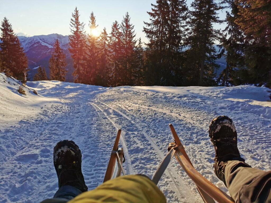 Rodeln Innsbruck - hier auf der Wettersteinhütte