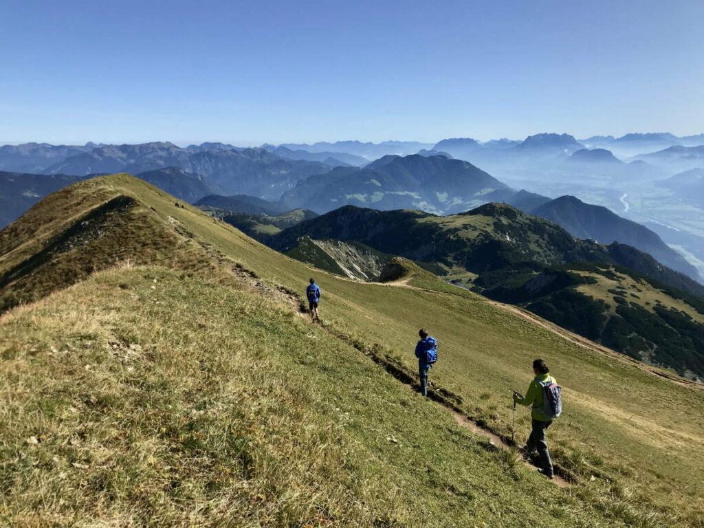 Im Familienurlaub Karwendel mit Kindern - aussichtsreich im Rofan wandern
