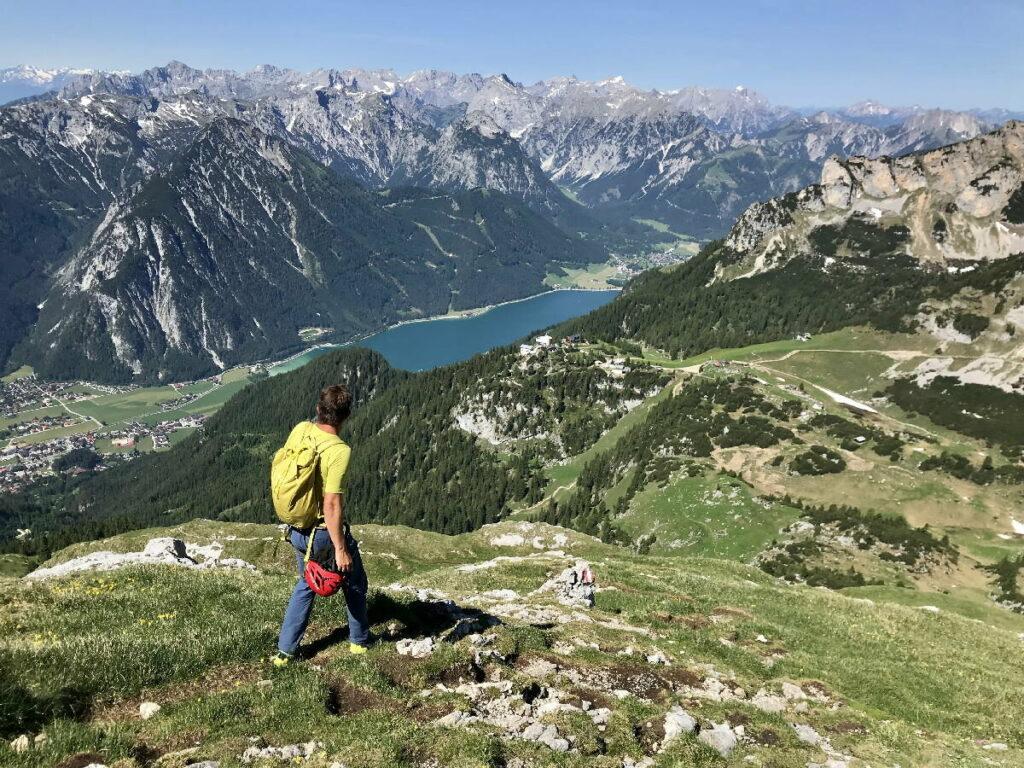 Im Rofan wandern - und auf die imposanten Gipfel im Karwendel schauen