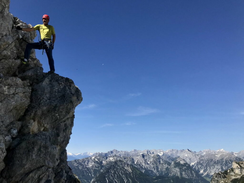 Anspruchsvoll im Rofan wandern - auf dem 5 Gipfel Klettersteig