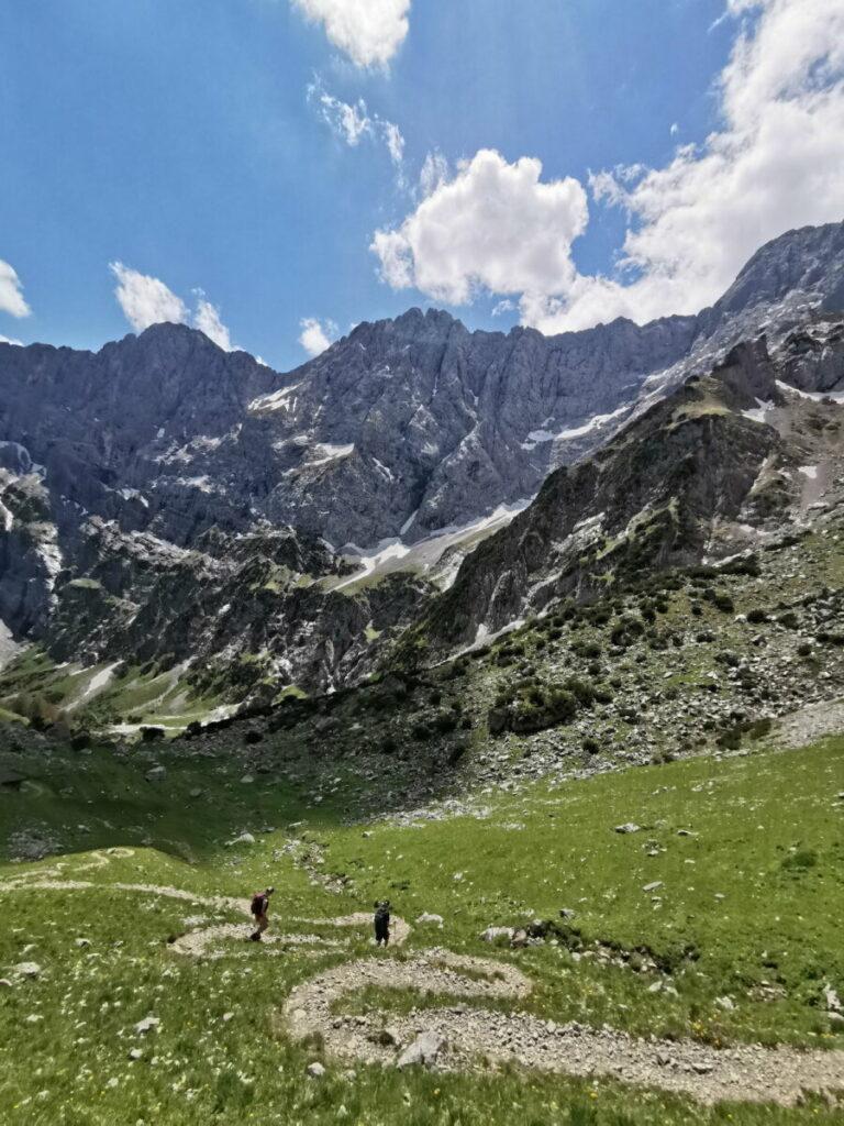 Die Rontal Tortal Wanderung - das ist der Abstieg von der Torscharte ins Tortal