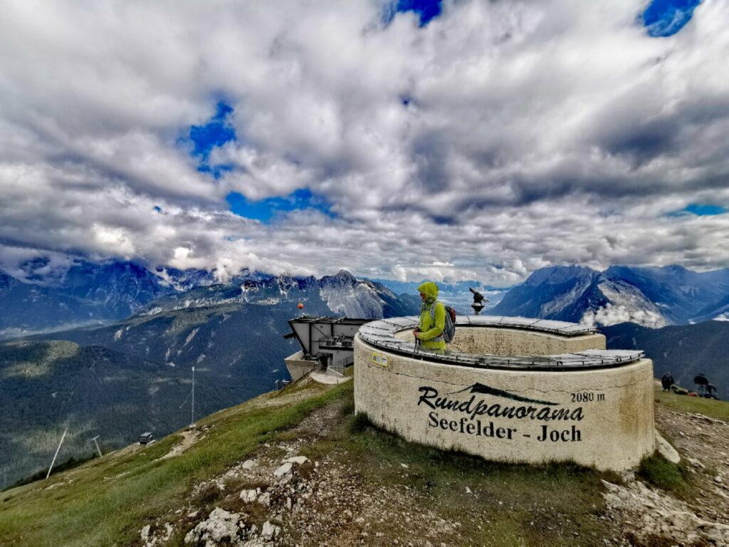 Rundpanorama Seefelder Joch (2080 m) - höchstgelegenes Panorama auf der Rosshütte