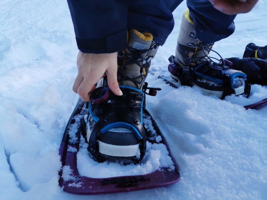Beim Schneeschuhe Test ist der Drehverschluß BOA sehr angenehm